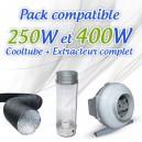 Pack CoolTube + Extracteur pour 250W et 400W