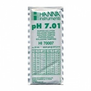 Solution étalonnage pH 7,01 Hanna 20 ml